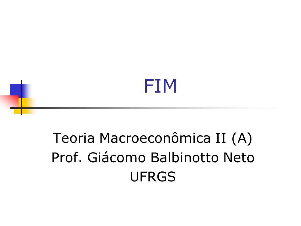 TEORIA MACROECONÔMICA II [A]